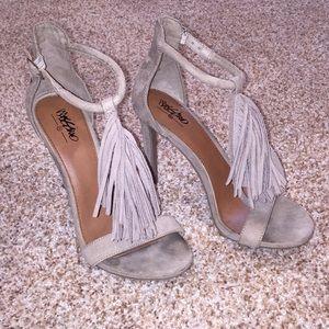 Mossimo Fringe Ankle Strap Heels
